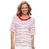 Women's Cathy Daniels Striped Side-Tie Top