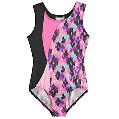 Girls 4-14 Jacques Moret Blotchy Spots Gymnastics Leotard