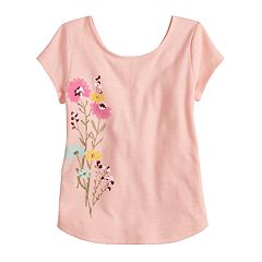Girls 4-12 SONOMA Goods for Life™ Shirttail-Hem Graphic Tee