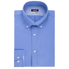 Men's IZOD Slim-Fit Button-Down Collar Wrinkle-Free Dress Shirt