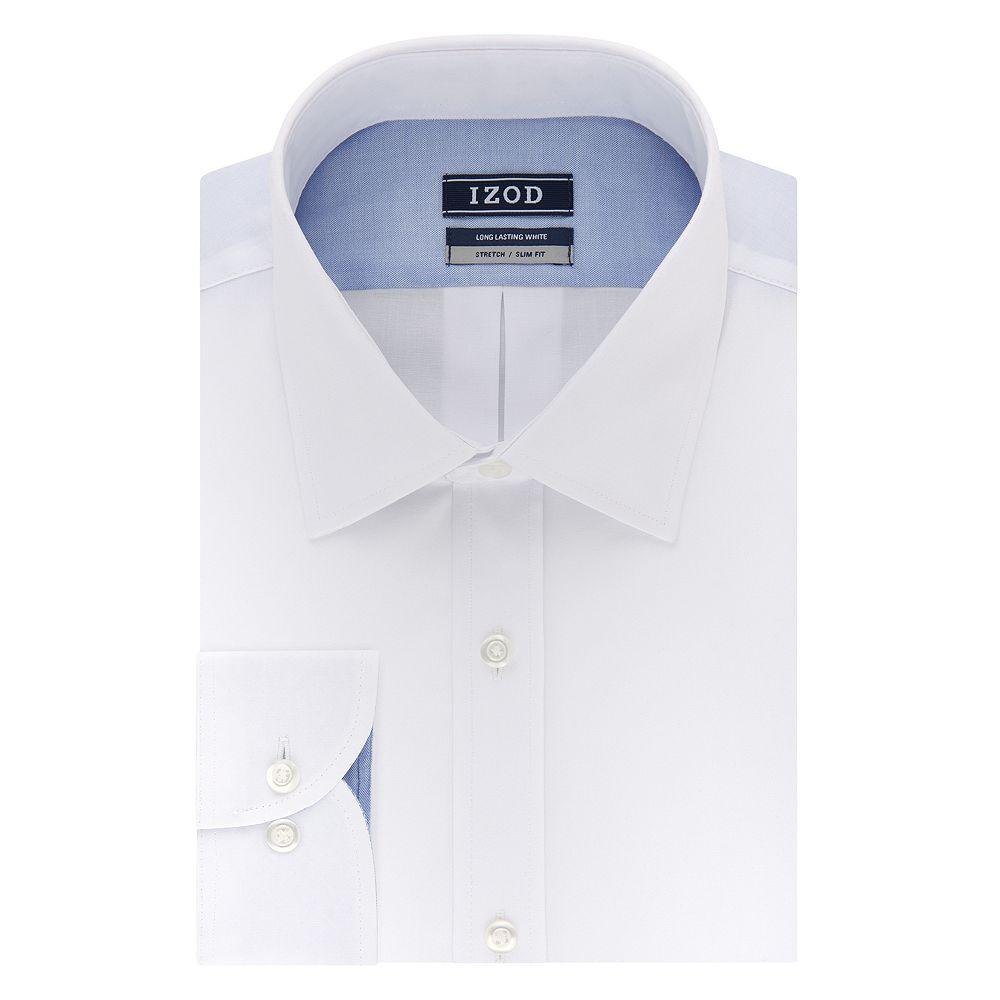Men's IZOD Slim-Fit Spread-Collar Wrinkle-Free Dress Shirt