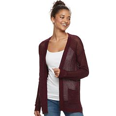 Juniors' Mudd® Open-Work Cardigan