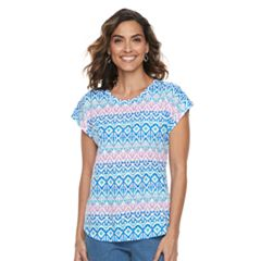 Women's Caribbean Joe Print Dolman Top