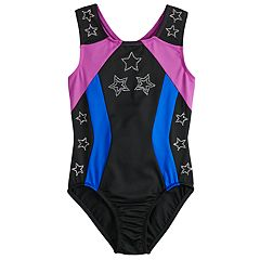 802418959715 Girls 4-14 JoJo Siwa Sparkle Stars Dance Leotard by Danskin