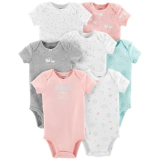 Baby Girl Carter's 7-pack Graphic Bodysuits