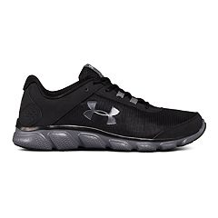 db1e006d1053 Under Armour Micro G Assert 7 Men s Running Shoes. Black White Steel White  Black Gray Charcoal Red