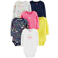 Baby Girl Carter's 6-pack Elephant Bodysuits