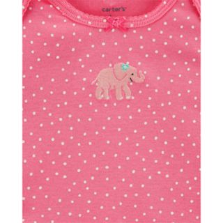 Baby Girl Carter's 6-pack Elephant Bodysuits