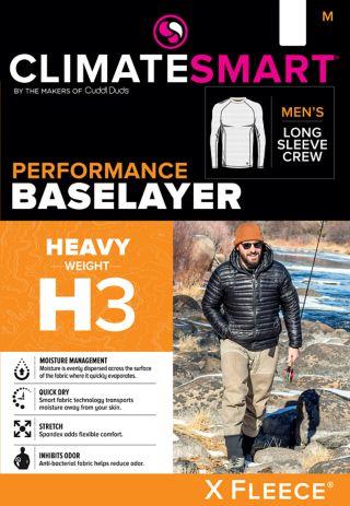Men's Climatesmart by Cuddl Duds® Heavyweight X Fleece Base Layer Crewneck Top