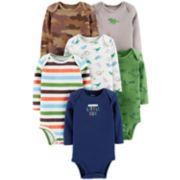 Baby Boy Carter's 6-pack Dinosaur Bodysuits