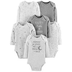 Baby Carter's 6-pack Moon Graphic Bodysuits