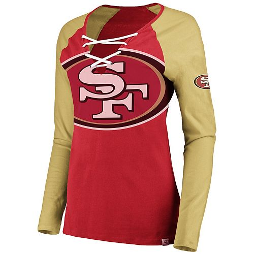 Women's San Francisco 49ers The Lace Up Tee