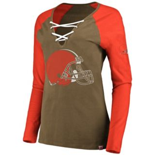 Women's Cleveland Browns The Lace Up Tee