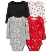 Baby Girl Carter's 4-pack Floral Bodysuit Set