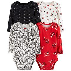 Baby Girl Carter's 4-pack Floral Bodysuit Set