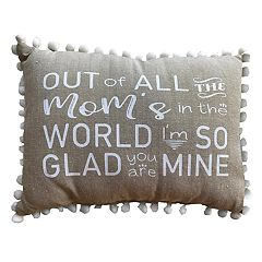 Park B. Smith ''Out of All the Mom's'' Oblong Throw Pillow