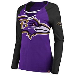 Women's Baltimore Ravens The Lace Up Tee