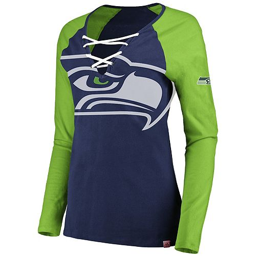 Women's Seattle Seahawks The Lace Up Tee