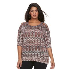 Plus Size French Laundry Dolman Cold-Shoulder Top