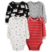Baby Boy Carter's 4-pack Polar Bear Bodysuit Set