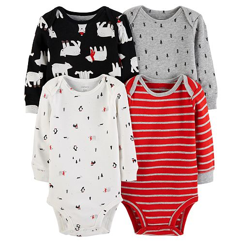 2a441b1be Baby Boy Carter s 4-pack Polar Bear Bodysuit Set