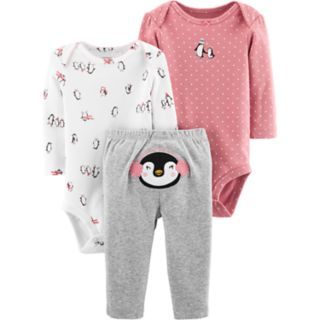 Baby Girl Carter's 3-pc. Penguin Bodysuits & Pants Set