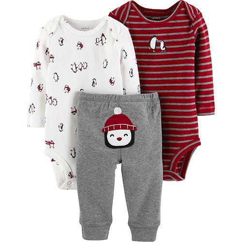 25b86d680 Baby Boy Carter's 3-pc. Penguin Bodysuits & Pants Set