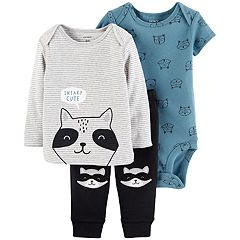 Baby Boy Carter's Raccoon Tee, Bodysuit & Pants Set