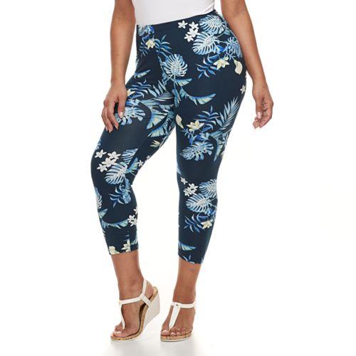 Plus Size French Laundry Printed Capri Leggings