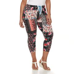 Plus Size French Laundry Printed Capri Leggings