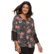 Plus Size French Laundry Floral Top