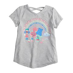 Girls 4-10 Jumping Beans® Dreamworks Trolls Glittery Graphic Tee