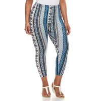 Plus Size French Laundry Printed Leggings
