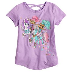 Girls 4-10 Jumping Beans® Shimmer & Shine Unicorn Criss-Cross Back Top
