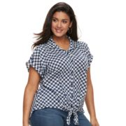 Plus Size French Laundry Tie-Front Top
