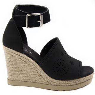 sugar Heated Women's Espadrille Platform Wedge Sandals