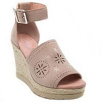 sugar Heated Women's Espadrille Platform Wedge Sandals