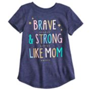 "Girls 4-10 Jumping Beans® ""Brave & Strong Like Mom"" Graphic Tee"