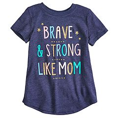Girls 4-10 Jumping Beans® 'Brave & Strong Like Mom' Graphic Tee