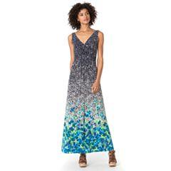 Petite Chaps Floral Maxi Dress