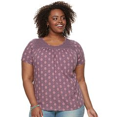 Plus Size SONOMA Goods for Life™ Lace Yoke Tee