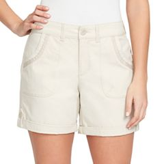 Women's Gloria Vanderbilt Misha Twill Button-Tab Shorts
