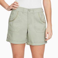 Women's Gloria Vanderbilt Misha Twill Button-Tab Shorts