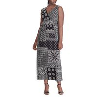 Plus Size Chaps Vine Empire Maxi Dress