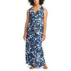 Plus Size Chaps Vine Empire Maxi Dress