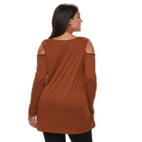 Plus Size French Laundry Cold-Shoulder Top