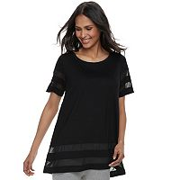 Women's French Laundry Mesh Trim Tunic