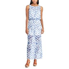Petite Chaps Geometric Maxi Dress