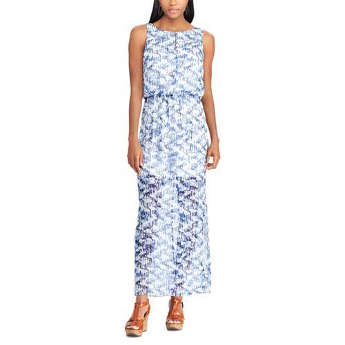 Petite Chaps Geometric Maxi Dress