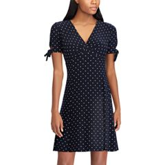 Women's Chaps Polka-Dot Empire Dress